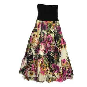 Dresses & Skirts - Floral Maxi Skirt Long Size Small
